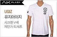 UGIZ 시크한 V넥 저단가 티셔츠