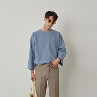 [COUCOU] REFRESHING 3/4 SLEEVE TEE_SKY BLUE