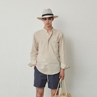 [COUCOU] CHINA HIDDEN BUTTON SH_LIGHT BEIGE