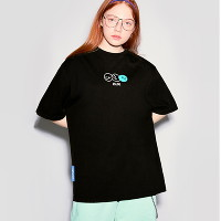 [로라로라][RLOL](TS-20301) SMILE T-SHIRT BLACK