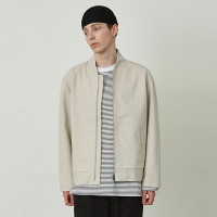 [COUCOU] MINIMAL COTTON JACKET_CREAM