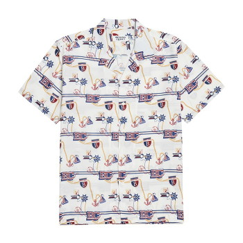[비욘드클로젯] NEW VOYAGE PATTERN SILKY 1/2 SHIRTS WHITE