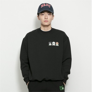[비욘드클로젯] NAPC CREW LOGO SWEAT-SHIRTS BLACK