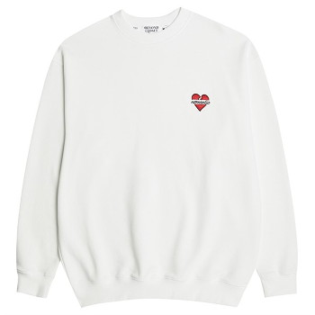 [비욘드클로젯] NOMANTIC BASIC LOGO SWEAT SHIRTS IVORY