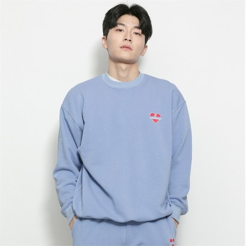 [비욘드클로젯] NOMANTIC BASIC LOGO SWEAT SHIRTS-BLUE