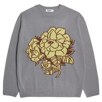 [비욘드클로젯] GARDEN DOG LOGO PULL-OVER KNIT GRAY