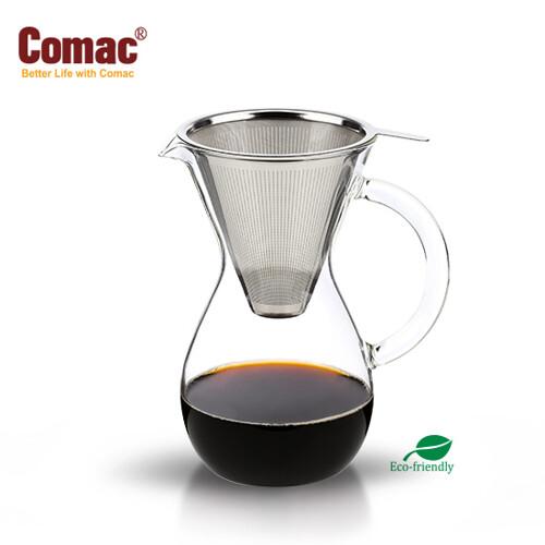[Comac(코맥)]스텐필터 카라페드립세트 600ml (DG1)