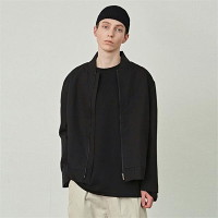 [COUCOU] MINIMAL COTTON JACKET_BLACK