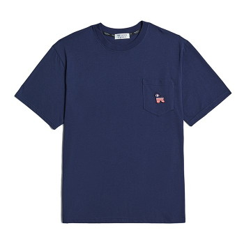 [비욘드클로젯] FLAG DOG POCKET 1/2 T-SHIRTS NAVY