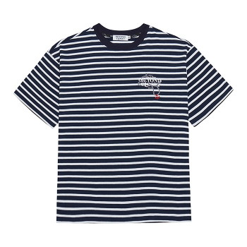 [비욘드클로젯] ROPE STITCH LOGO STRIPE 1/2 T SHIRTS NAVY