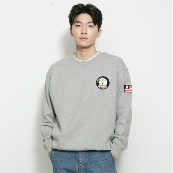 [비욘드클로젯] APOLLO COLLECTION CLASSIC WAPPEN SWEAT-SHIRTS 2021SPRING GRAY