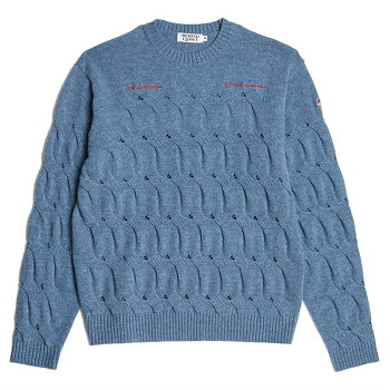 [비욘드클로젯] NOMANTIC CRACK CABLE WOOL KNIT BLUE