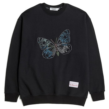 [비욘드클로젯] BEAUTIFUL STITCH BUTTERFLY SWEAT SHIRTS BLACK