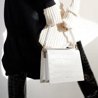 [DeMAKER] 드메이커 Leve bag-croco white