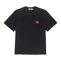 [비욘드클로젯] NOMANTIC BASIC LOGO 1/2 T-SHIRTS BLACK