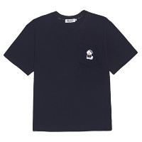[비욘드클로젯] VOYAGE MARINE DOG 1/2 POCKET T-SHIRTS NAVY