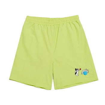 [비욘드클로젯] [Ball Collection]BC FITNESS CENTER 1/2 GYM SHORTS LIME