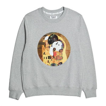 [비욘드클로젯] KISS DOG GALLERY PATCH DOG SWEAT-SHIRTS GRAY