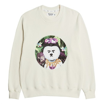 [비욘드클로젯] MODERN ART DOG PATCH SWEAT-SHIRTS IVORY