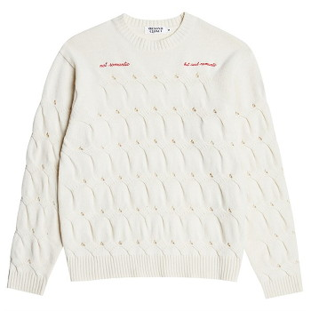 [비욘드클로젯] NOMANTIC CRACK CABLE WOOL KNIT IVORY