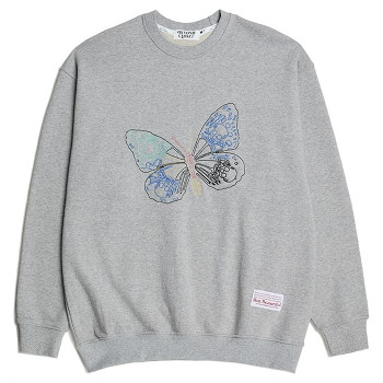 [비욘드클로젯] BEAUTIFUL STITCH BUTTERFLY SWEAT SHIRTS GRAY