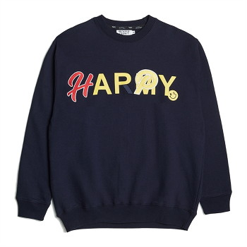 HAPPY ARMY SWEAT SHIRTS NAVY