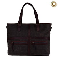 [builford] 빌포드 May Vintage Tote Bag-Dark Oak Grid