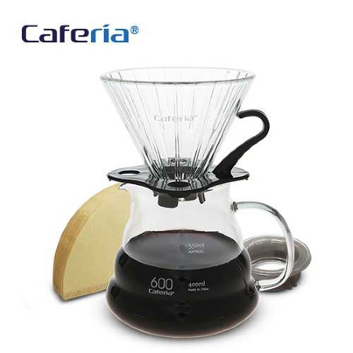 Caferia 커피드립세트 600ml-CDN1 [커피필터유리드리퍼커피서버핸드드립드립커피드립용품커피용품]