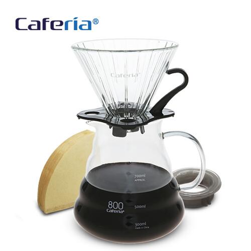 Caferia 커피드립세트 800ml-CDN2 [커피필터유리드리퍼커피서버핸드드립드립커피드립용품커피용품]