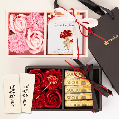 [NeeGee] 비누꽃 용돈박스+용돈봉투,쇼핑백 포함