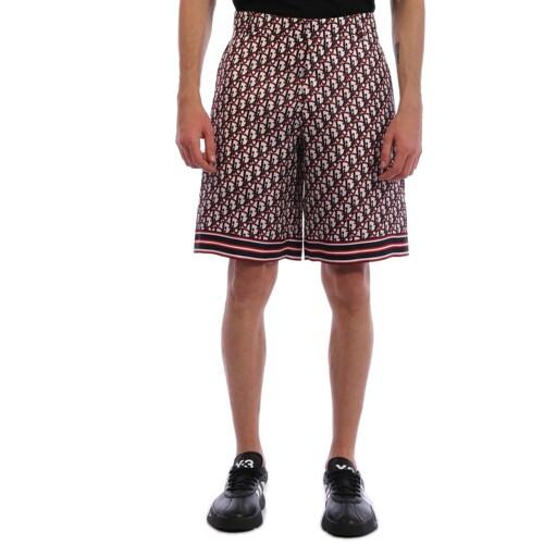 Bermuda Shorts Dior Oblique  남자 쇼츠   085 013C121