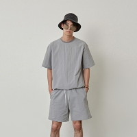 [COUCOU] ORDINARY STRING HALF TEE_GRAY