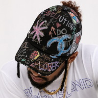 블랙블론드 BBD Tweed Cap Graffiti Ver. (Black)