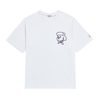 [비욘드클로젯] ROPE MARINE DOG 1/2 T-SHIRTS WHITE