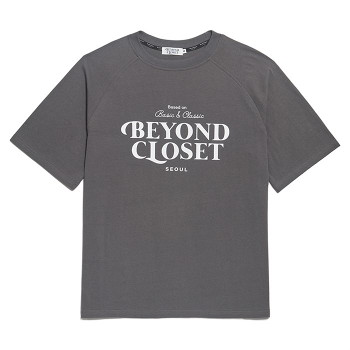 [비욘드클로젯] NEW LOGO WASHED COTTON 1/2 T-SHIRTS GRAY