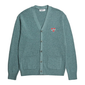 [비욘드클로젯] NOMANTIC LOGO KNIT WOOL CARDIGAN TOPAZ