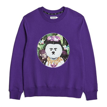 [비욘드클로젯] MODERN ART DOG PATCH SWEAT-SHIRTS PURPLE