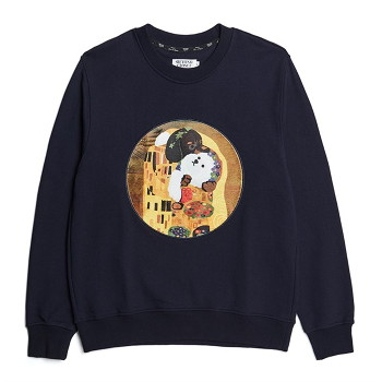 [비욘드클로젯] KISS DOG GALLERY PATCH DOG SWEAT-SHIRTS NAVY