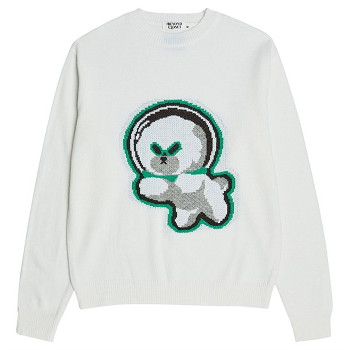 [비욘드클로젯] NAPC ALIEN DOG KNIT IVORY