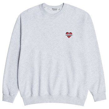 [비욘드클로젯] NOMANTIC BASIC LOGO SWEAT SHIRTS GRAY