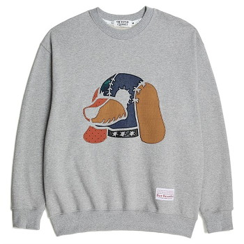 [비욘드클로젯] BEAUTIFUL PATCH DOG DOLL SWEAT SHIRTS GRAY