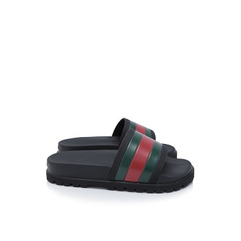 0c2109eda ... 구찌 웹 슬라이드 샌들 Gucci Web Slide Sandals (429469 GIB10 1098)