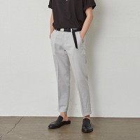 [COUCOU] LIGHT WEIGHT BASIC SLACKS_LIGHT GRAY
