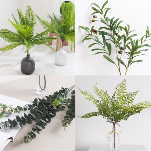 안구정화 플랜테리어 녹색 식물 조화 6종 모음 조화