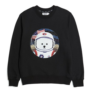 [비욘드클로젯] APOLLO COLLECTION CLASSIC LOGO PATCH SWEAT-SHIRTS 2021SPRING BLACK