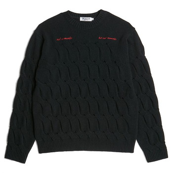 [비욘드클로젯] NOMANTIC CRACK CABLE WOOL KNIT BLACK