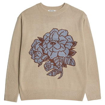 [비욘드클로젯] GARDEN DOG LOGO PULL-OVER KNIT BEIGE